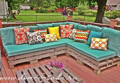 Мягкая садовая мебель своими руками 442