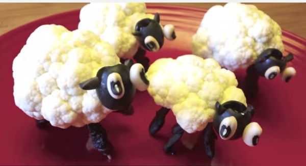 Как сделать из продуктов овечку