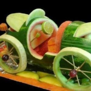 машинки из овощей и фруктов своими руками фото