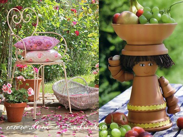 декорируем сад своими руками