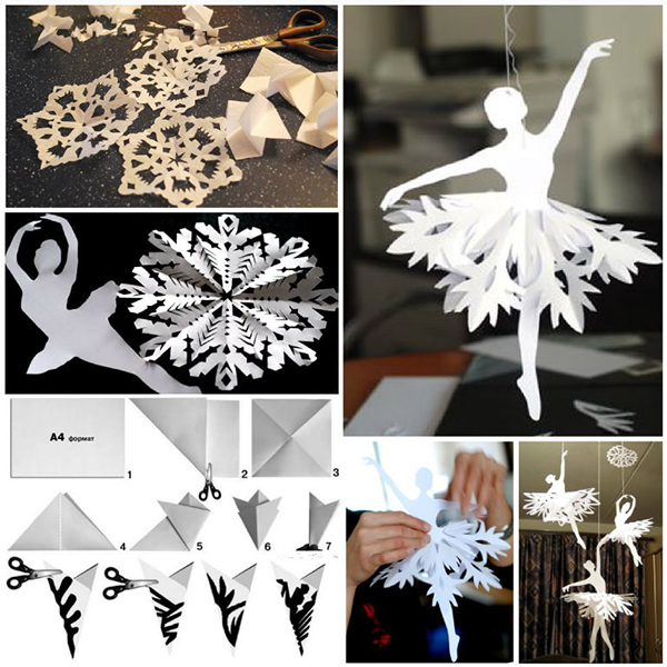 Снежинка - балерина