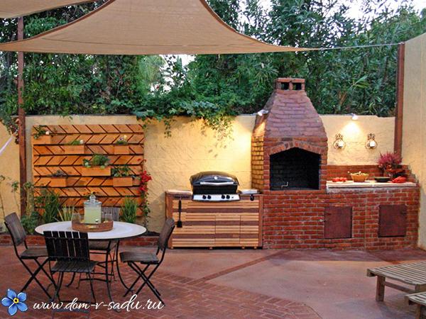 дизайн места отдыха с барбекю