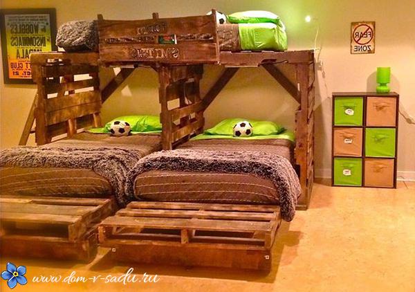Сделать кровать из поддонов своими руками пошагово фото