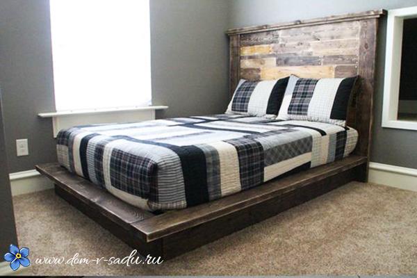 как сделать на даче кровать подиум