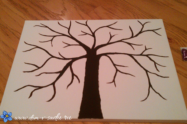 поделка дерево из пуговиц своими руками