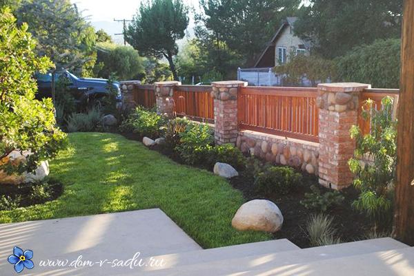 красивый дачный забор