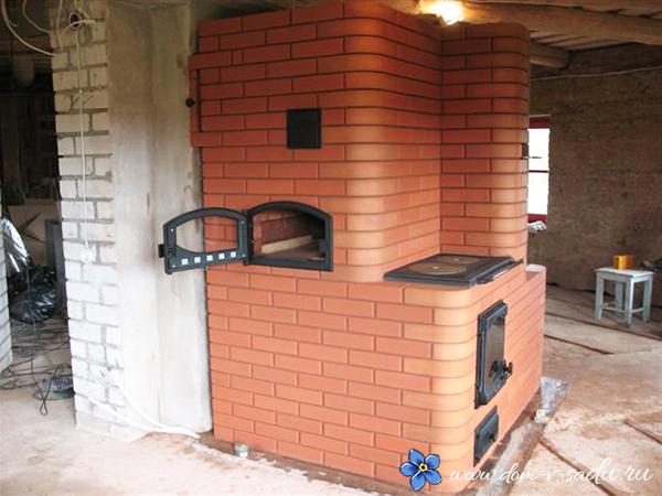 дачная печь с варочной поверхностью