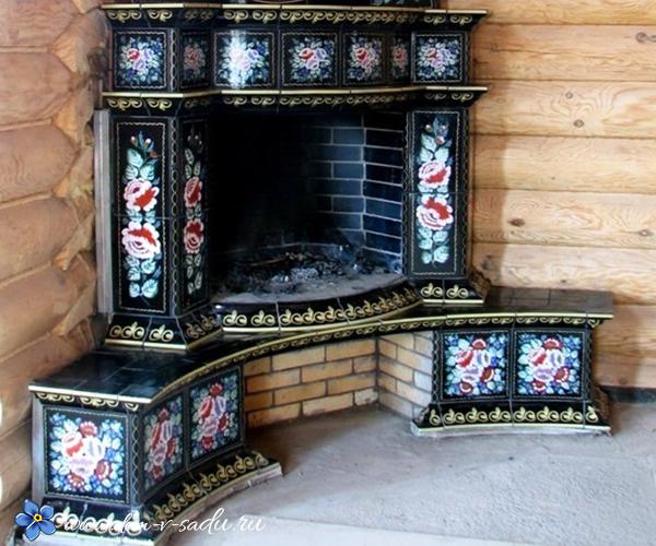 русская печка на даче