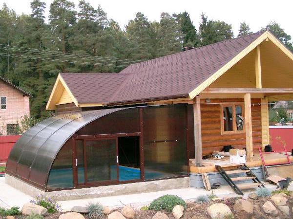 Построить бассейн своими руками проекты фото под крышей 37