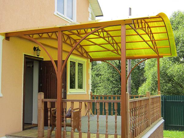 Крыльцо из поликарбоната к деревянному дому своими руками проекты фото 35