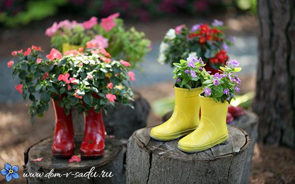 кашпо для садовых цветов