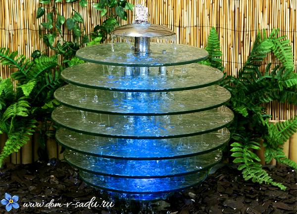 интересный фонтан для сада
