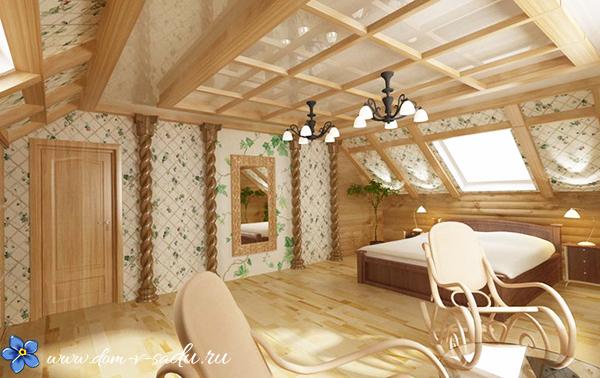 дизайн мансарды в доме