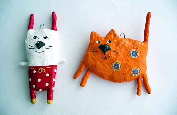 игрушки на елку из папье маше