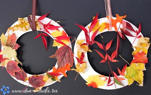 поделки из листьев с детьми