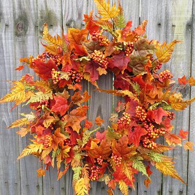 поделки из листьев для дома