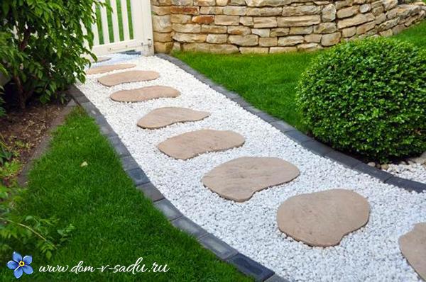 садовые дорожки в саду из камня