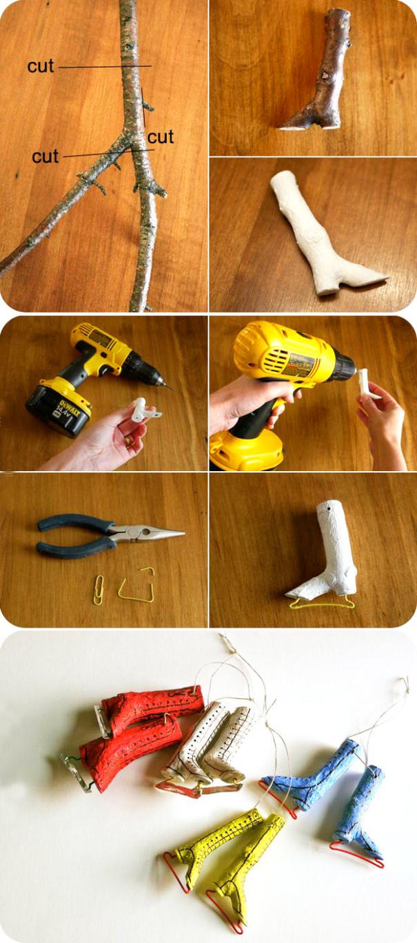 деревянные игрушки для елки