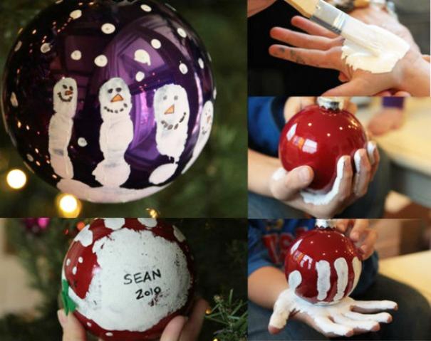 как раскрасить елочные шары