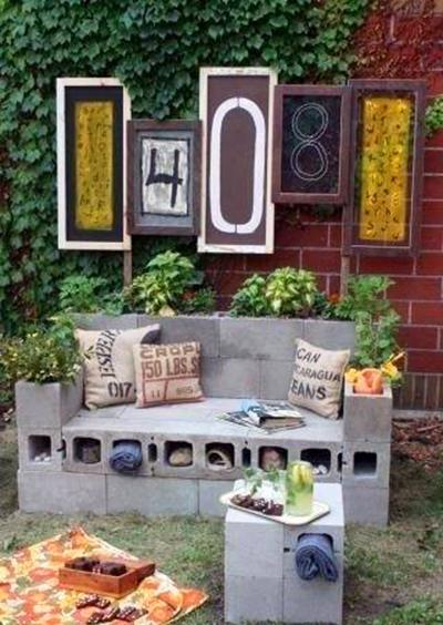 уличный садовый диван