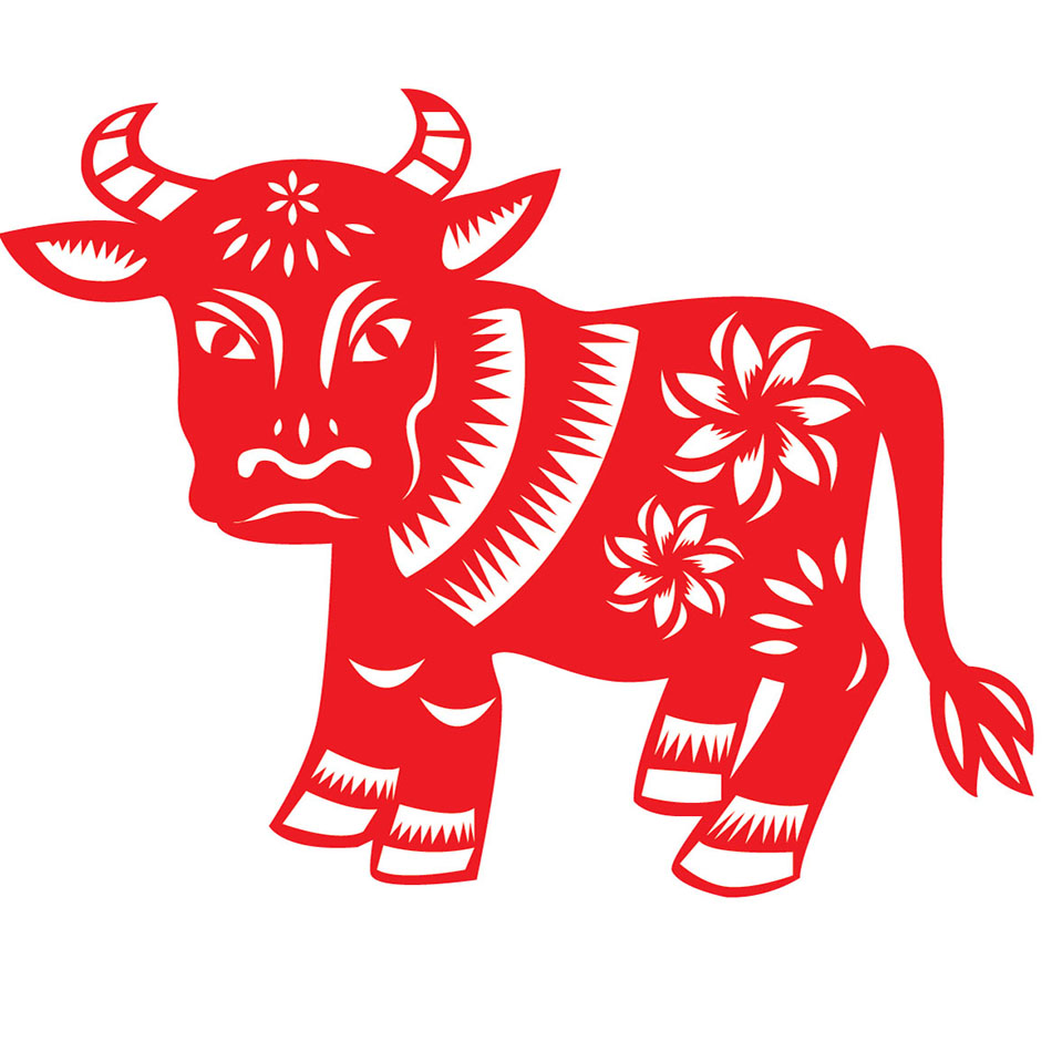 вырезалка быка на новый год 2021