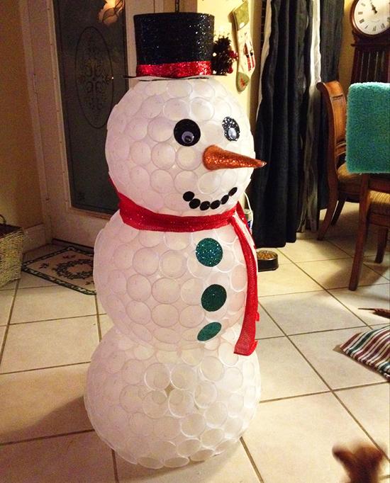 Как сделать снеговика из стаканов фото 313