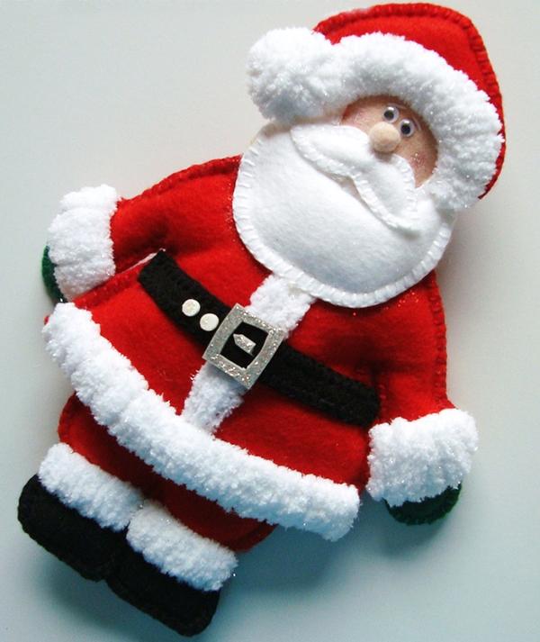 игрушка дед Мороз из ткани