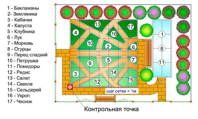 план грядок в огороде