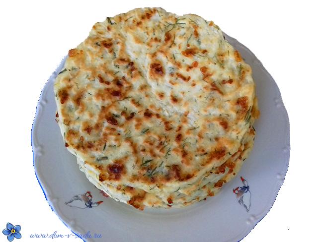 лепешка с сыром и укропом