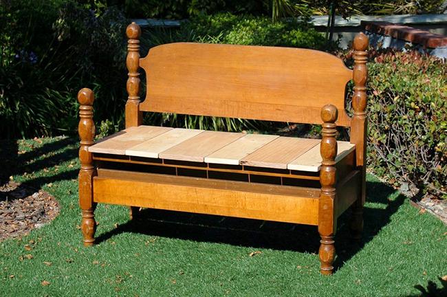 Как сделать скамейку из старых