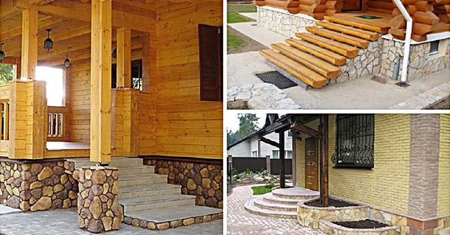 Дизайн крыльца частного дома