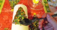 декор свечи на Новый год