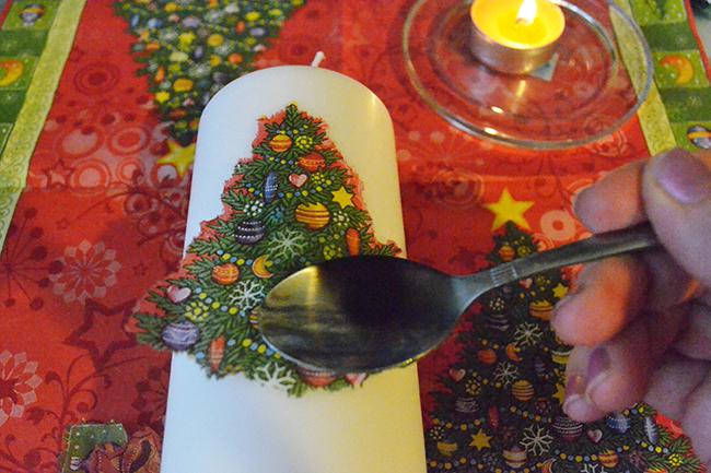 как делать декупаж свечи своими руками