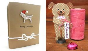 новогодние открытки с собакой