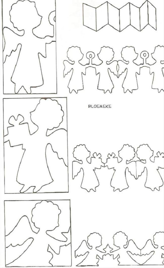 бумажные шаблоны гирлянды