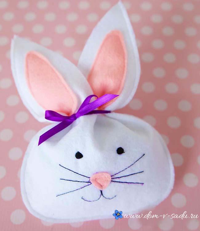 пасхальный кролик из фетра
