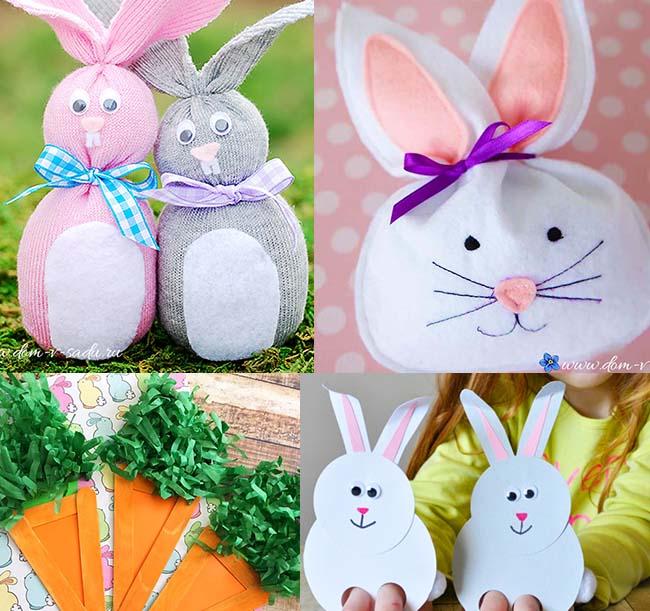 pashalnyj-krolik-svoimi-rukami Пасхальный кролик с плетной шляпкой своими руками
