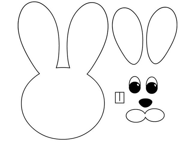 шаблон пасхального кролика