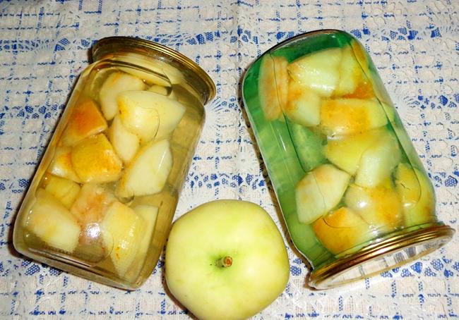 компот из резанных яблок