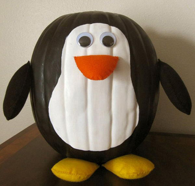 пингвин из тыквы