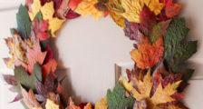 поделка венок из листьев
