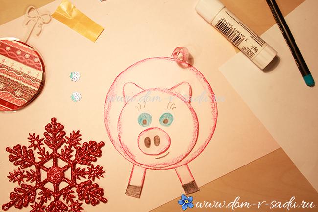 новогодние открытки 2019 год свиньи