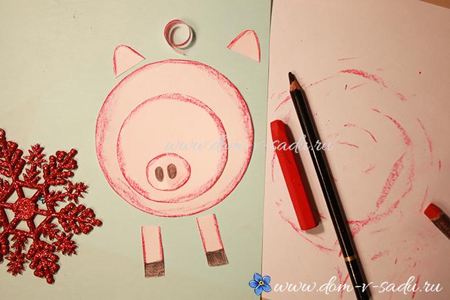 как сделать свинью из бумаги