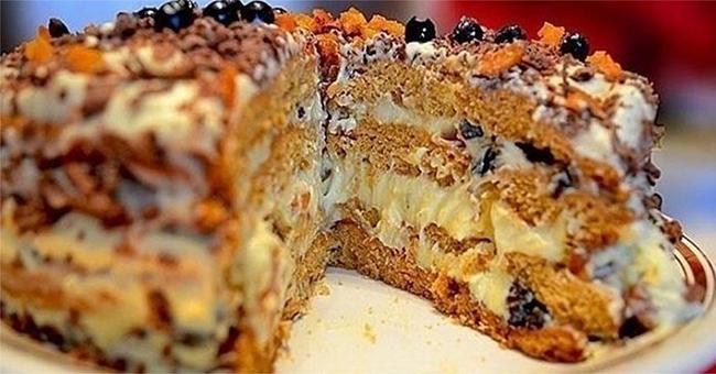 торт трухлявый пень с вареньем на кефире